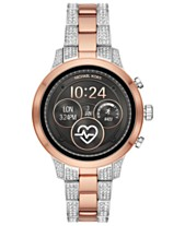 f01f3a60b1179 Michael Kors Access Women s Runway Two-Tone Stainless Steel   Crystal  Bracelet Touchscreen Smart Watch