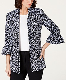 Ruffled Bell-Sleeve Jacket