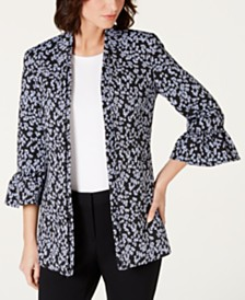 Nine West Ruffled Bell-Sleeve Jacket