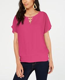 Thalia Sodi Embellished Banded-Hem Top, Created for Macy's