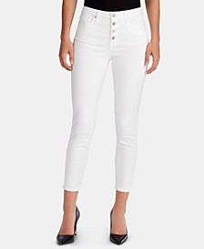 Button-Fly Ankle Jeans