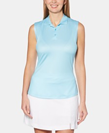 Callaway Gingham Sleeveless Golf Polo
