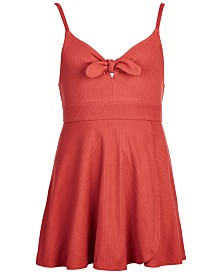 Epic Threads Big Girls Skirted Ribbed Romper, Created for Macy's