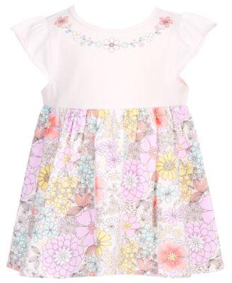 Baby Girls Floral-Print Tunic, Created for Macy's