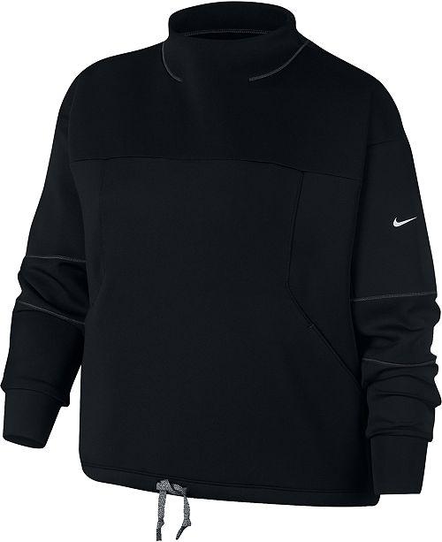 Nike Plus Size Dri-FIT Fleece Training Top