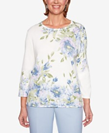 Alfred Dunner Southampton Printed Sweater