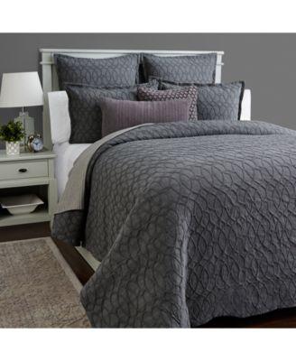 Interlock Cotton Full/Queen Duvet Cover, Created for Macy's