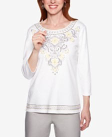 Alfred Dunner Native New Yorker Embellished Top