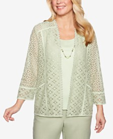 Alfred Dunner Southampton Sheer Layered-Look Top