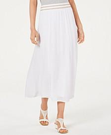 Crinkle Gauze Maxi Skirt, Created for Macy's