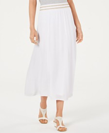 JM Collection Crinkle Maxi Skirt, Created for Macy's