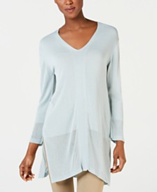 Weekend Max Mara Canale Side-Slit Tunic Sweater