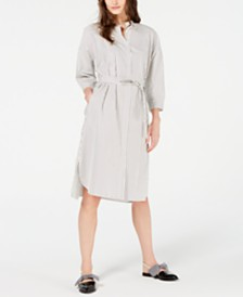 Weekend Max Mara Urbano Cotton Striped Shirtdress