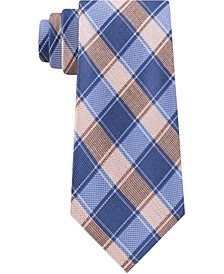 Men's Thin Double Track Check Tie