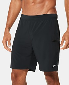 "Speedo Men's Active Flex Stretch 7-1/2"" Hybrid Swim Shorts"