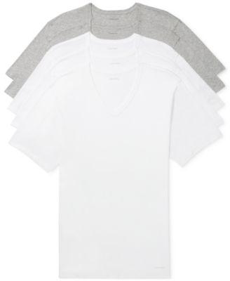 Men's 5-Pk. Cotton Classics Slim V-Neck Undershirts