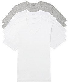 Men's 5-Pk. Cotton Classics Slim V-Neck Undershirts