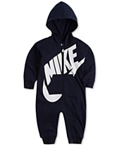 newest f1c72 8fec9 Nike Baby Boys French Terry Hooded Coverall