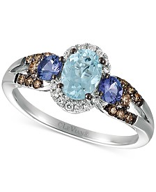 Le Vian® Multi-Gemstone (7/8 ct. t.w.) & Diamond (1/4 ct. t.w.) Ring in 14k White Gold