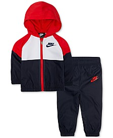 Nike Baby Boys 2-Pc. Colorblocked Windrunner Jacket & Jogger Pants Set