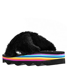 Little & Big Girls Anjali Faux Fur Slides