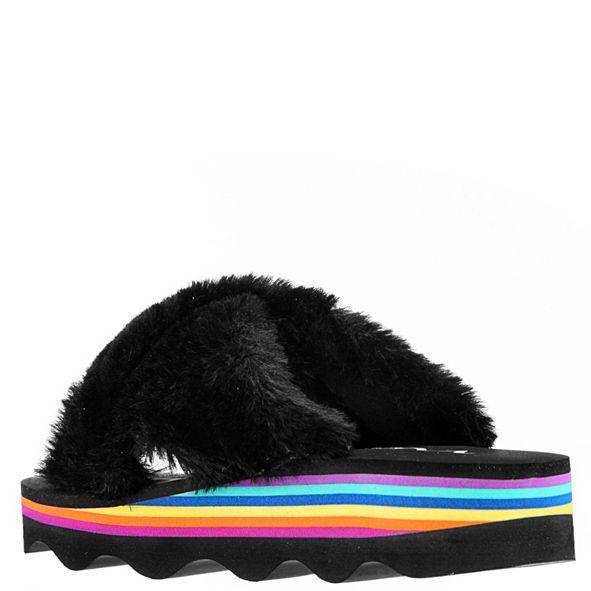 Nina Little & Big Girls Anjali Faux Fur Slides