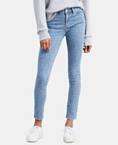 4677a776 Levi's® 711 Animal-Print Ankle Skinny Jeans