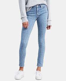 Levi's® 711 Animal-Print Ankle Skinny Jeans