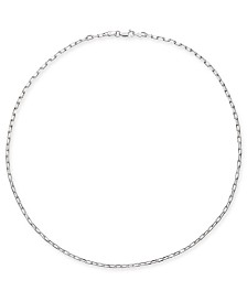"Giani Bernini Oval Link 18"" Chain Necklace in Sterling Silver, Created for Macy's"