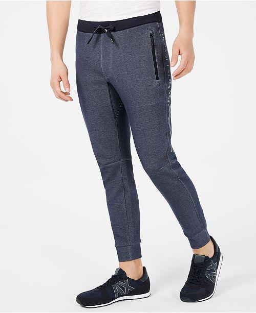 A|X Armani Exchange Men's Reflective Jogger Pants