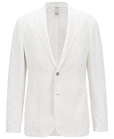 BOSS Men's Slim Fit Linen Jacket
