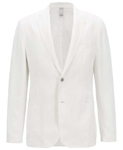 30da40b0 Hugo Boss BOSS Men's Slim Fit Linen Jacket & Reviews - Blazers ...