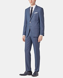 BOSS Men's Slim Fit Micro-Patterned Suit