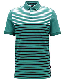 BOSS Men's Striped Cotton Polo