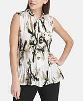 1f36e485e78a7e Tie Neck Blouse: Shop Tie Neck Blouse - Macy's