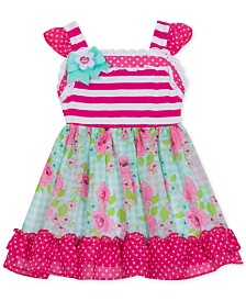 Rare Editions Baby Girls Printed Dress