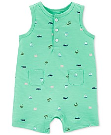 Baby Boys Beach-Print Cotton Romper