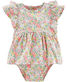 Carter's Baby Girls Floral-Print Cotton Sunsuit