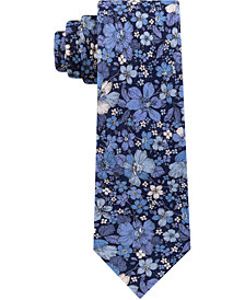 Tommy Hilfiger Men's Large Floral Slim Silk Tie