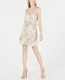 19 Cooper Square-Neck Printed A-Line Dress