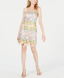 Laundry by Shelli Segal 3D-Flower Sheath Dress