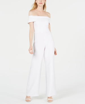 Laundry By Shelli Segal Suits LAUNDRY BY SHELLI SEGAL OFF-THE-SHOULDER JUMPSUIT