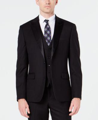 Men's Slim-Fit Stretch Black Tuxedo Jacket, Created for Macy's