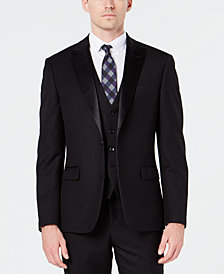 Ryan Seacrest Distinction™ Men's Slim-Fit Stretch Black Tuxedo Jacket, Created for Macy's