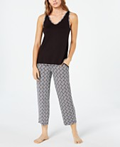 57726401423f Charter Club Knit Tank And Cropped Pant Pajama Set, Created for Macy's