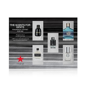 5-Pack The Scents For Gents Fragrance Gift Set + Miss Dior Sample