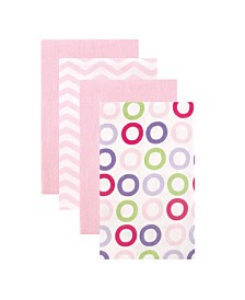 Luvable Friends Burp Cloth, 4-Pack, One Size