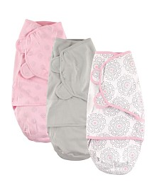 Hudson Baby Swaddle Wrap, 3-Pack, 0-3 Months