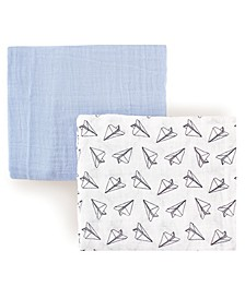 Hudson Baby Muslin Swaddle Blanket, 2-Pack, One Size