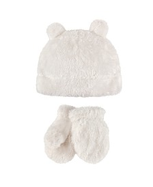 Hudson Baby Cozy Sherpa Hat and Mitten Set, 0 Months-4T